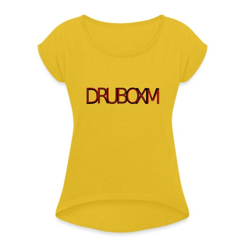 Druboxm - Women's T-Shirt with rolled up sleeves