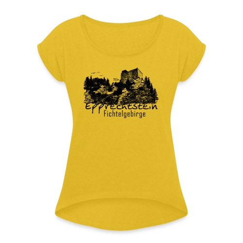 Epprechtstein Fichtelgebirge Fichtelshirt - Frauen T-Shirt mit gerollten Ärmeln