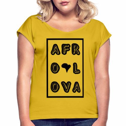Afro Lova Rectangle - T-shirt à manches retroussées Femme