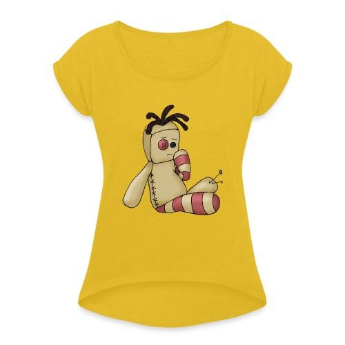 voodooboy - Maglietta da donna con risvolti