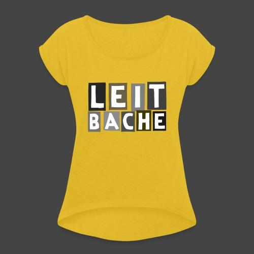 Die Leitbache - original Jägershirt - Frauen T-Shirt mit gerollten Ärmeln