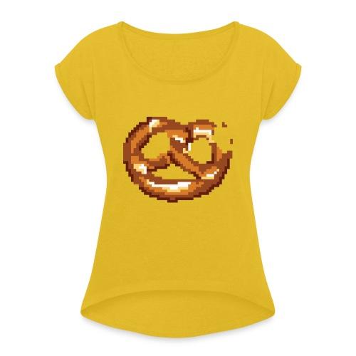 Breze mit Biss - Frauen T-Shirt mit gerollten Ärmeln