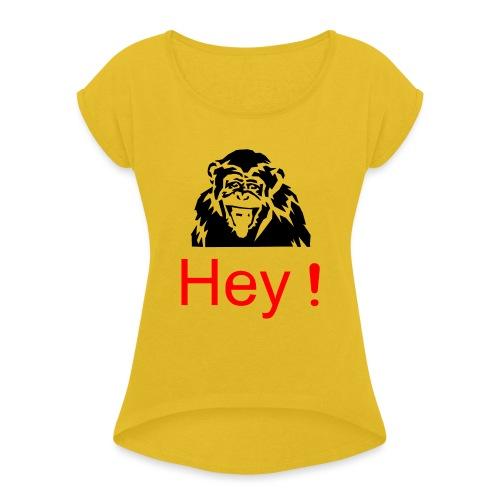 hey! monkey - T-shirt à manches retroussées Femme