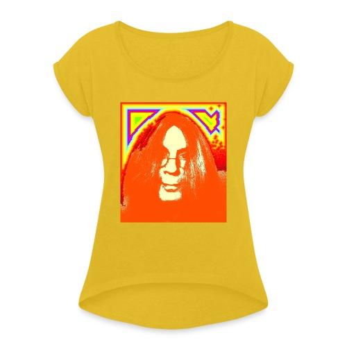 hippie1 - Frauen T-Shirt mit gerollten Ärmeln