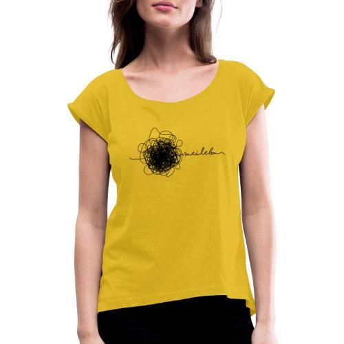 Vorschau: mei lebm - Frauen T-Shirt mit gerollten Ärmeln