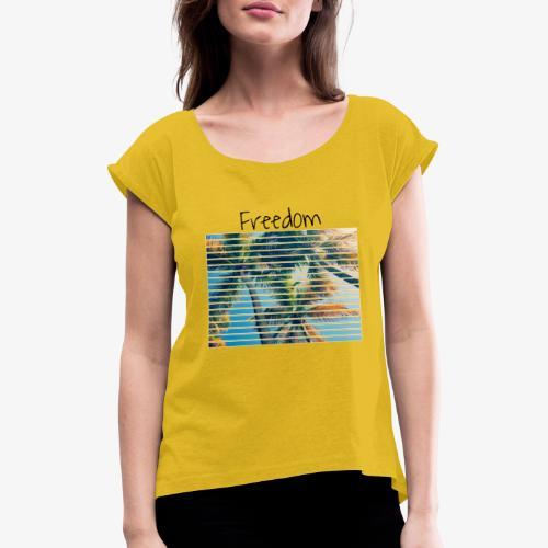 Freedom - Maglietta da donna con risvolti