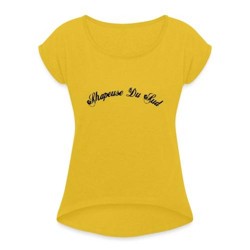 bitmap png - T-shirt à manches retroussées Femme