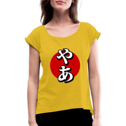 Saludo japonés - Camiseta con manga enrollada mujer