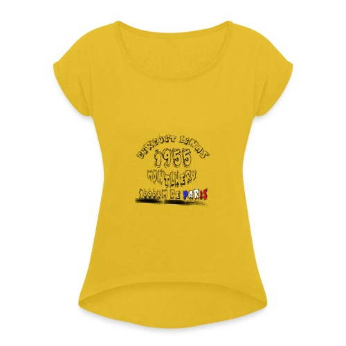 Les anciennes courses automobile - T-shirt à manches retroussées Femme