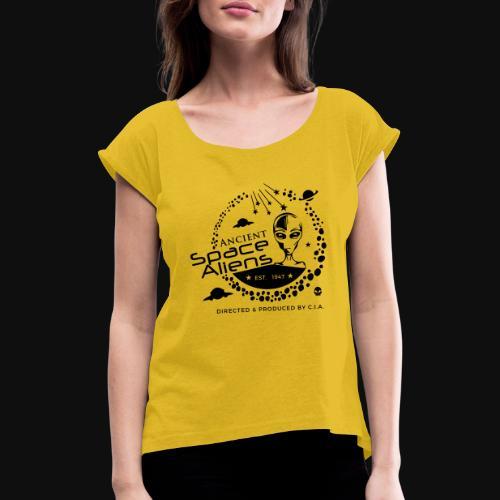 CIA Space Aliens - T-shirt à manches retroussées Femme