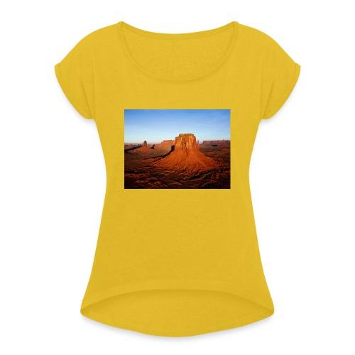 Desert - Camiseta con manga enrollada mujer