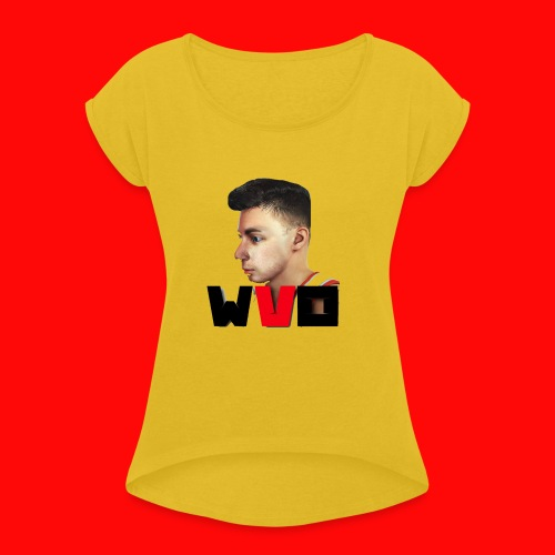 WVO OFFICIAL - Women's T-Shirt with rolled up sleeves