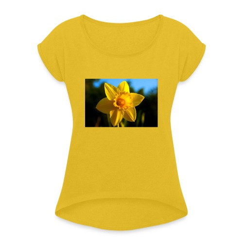 daffodil - Women's T-Shirt with rolled up sleeves