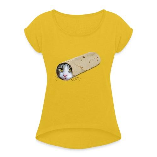 carrito - Vrouwen T-shirt met opgerolde mouwen