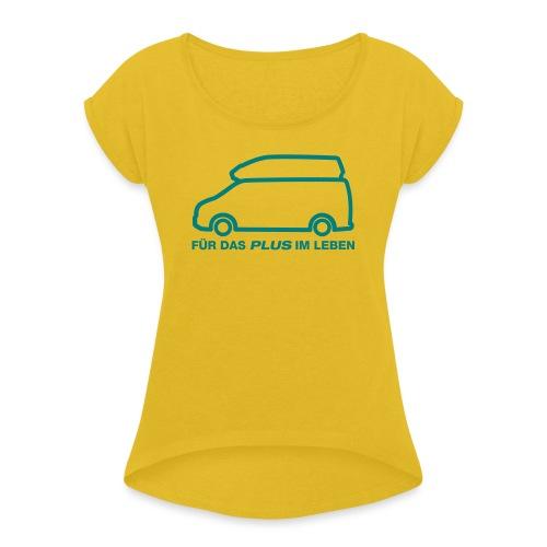 NUGGET Plus - Frauen T-Shirt mit gerollten Ärmeln
