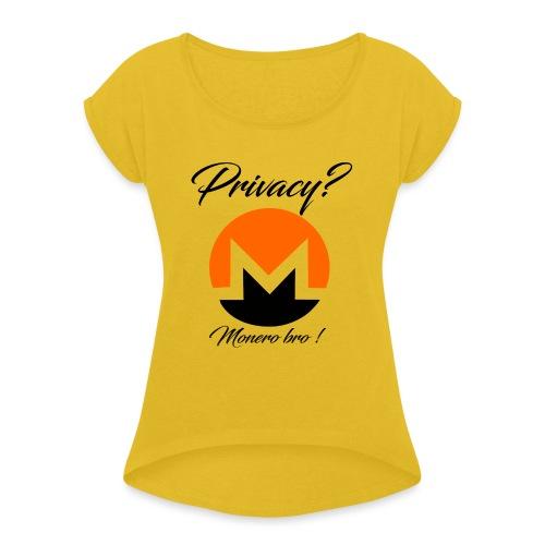 Moneroooo - T-shirt à manches retroussées Femme