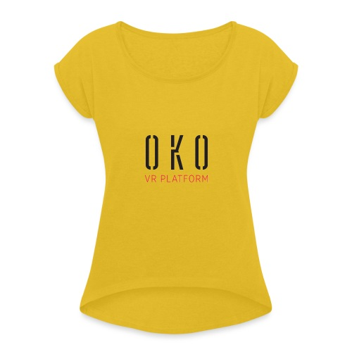 OKO VR PLATFORM - Women's T-Shirt with rolled up sleeves