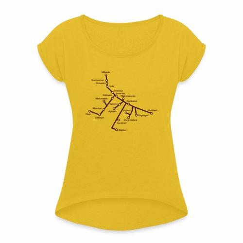 Lisch Tisch Hoods - T-shirt med upprullade ärmar dam