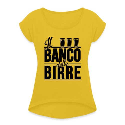 Il Banco delle Birre - Maglietta da donna con risvolti
