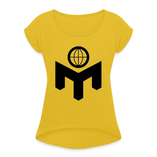 mlogo - T-skjorte med rulleermer for kvinner