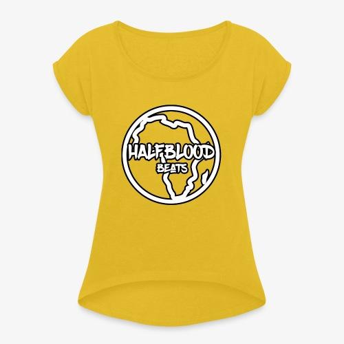 halfbloodAfrica - Vrouwen T-shirt met opgerolde mouwen