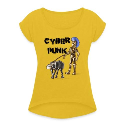 cyberpunk - Maglietta da donna con risvolti