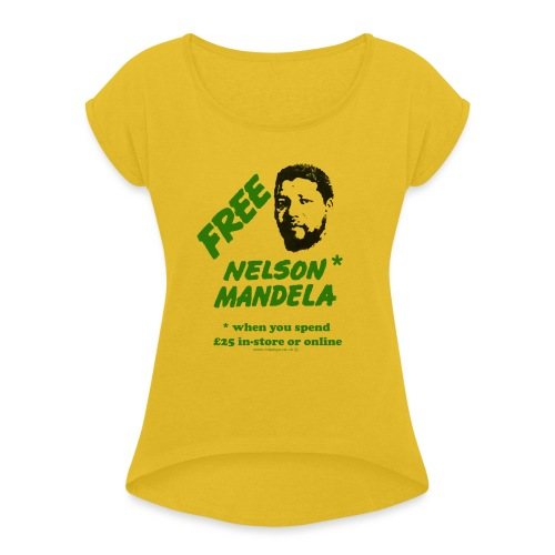 mandela - Women's T-Shirt with rolled up sleeves