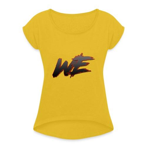 VI Logo - T-skjorte med rulleermer for kvinner