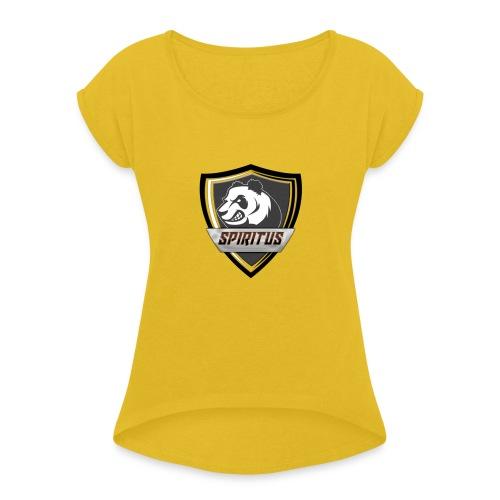 Team Spiritus - T-shirt med upprullade ärmar dam