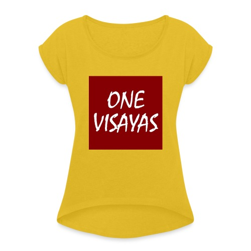 ONEVisayas Logo - Women's T-Shirt with rolled up sleeves
