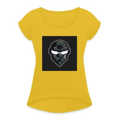 LogoMain2 - Dame T-shirt med rulleærmer