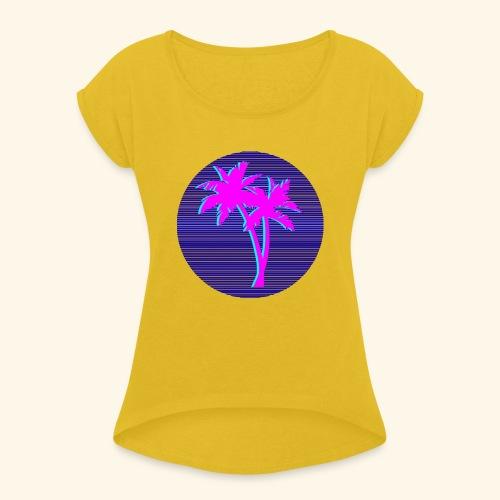 Florida palmtree - T-shirt à manches retroussées Femme