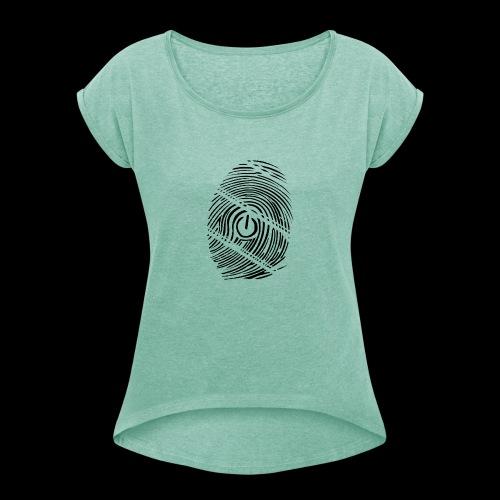 geek - T-shirt à manches retroussées Femme