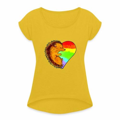 RICCIO - Maglietta da donna con risvolti
