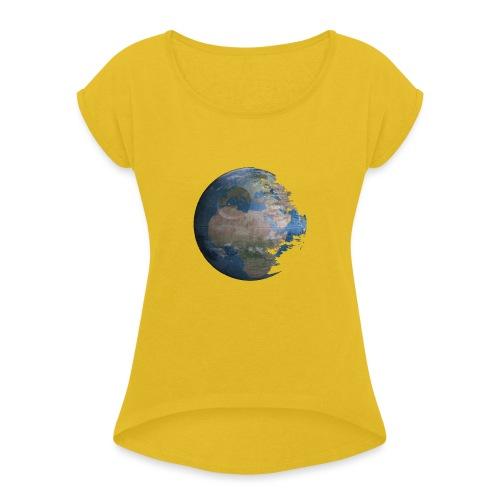 Death Earth - T-shirt à manches retroussées Femme