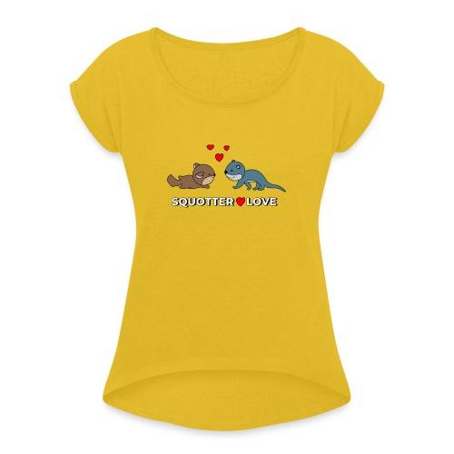 otter squirrel shirt - Vrouwen T-shirt met opgerolde mouwen