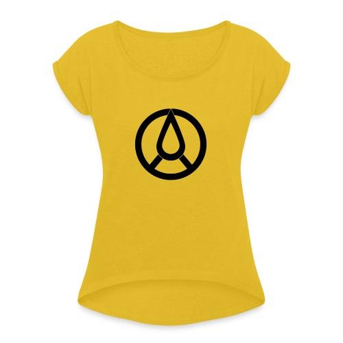 pce_blackd20-1-jhghg - T-shirt med upprullade ärmar dam