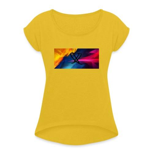 Box_logo_2 - Dame T-shirt med rulleærmer