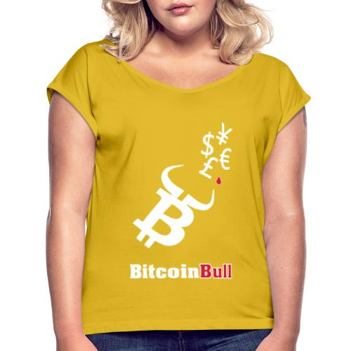 BitcoinBull - Camiseta con manga enrollada mujer