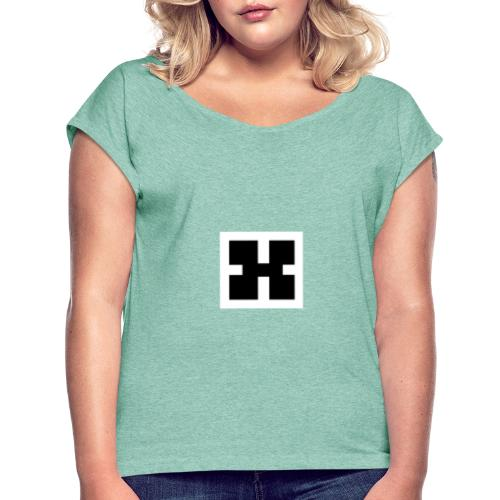 Inverted XRhodes Films Logo 2019 - Women's T-Shirt with rolled up sleeves
