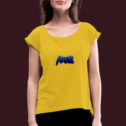 Ares blue - T-shirt à manches retroussées Femme