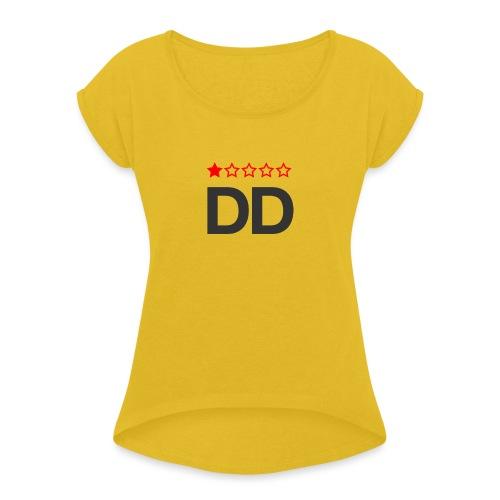 Dårligdommerne simpelt logo - Dame T-shirt med rulleærmer