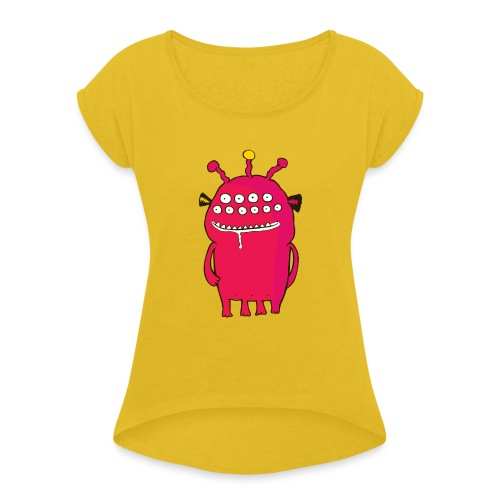 Alienating... (monster #1) - Women's T-Shirt with rolled up sleeves