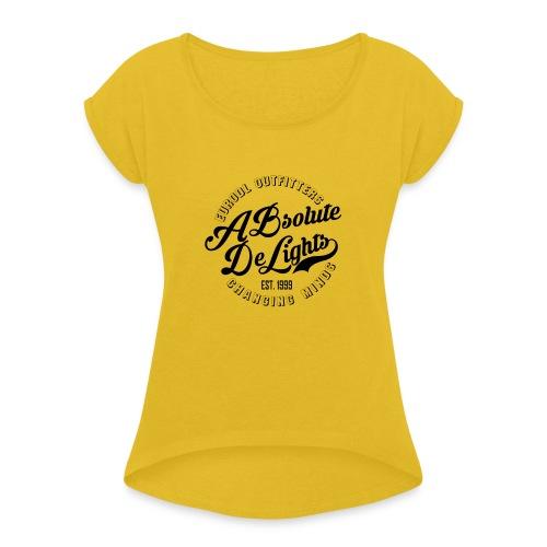 euroDL Retro T-shirt - Black - Vrouwen T-shirt met opgerolde mouwen