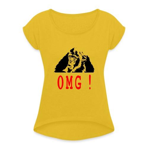 OMG monkey - T-shirt à manches retroussées Femme