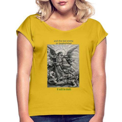 C91 - Camiseta con manga enrollada mujer