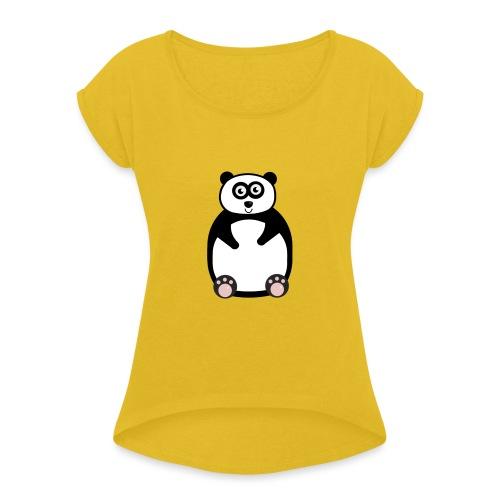 panda-png - T-shirt med upprullade ärmar dam