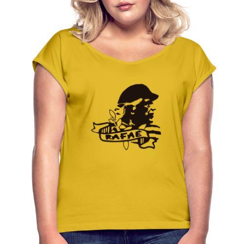 Alberti - Camiseta con manga enrollada mujer