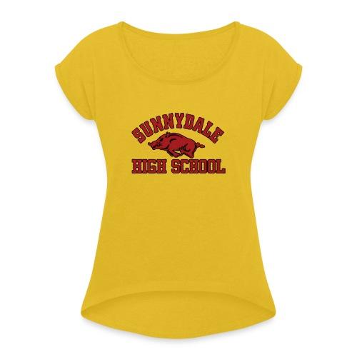 Sunnydale High School logo merch - Vrouwen T-shirt met opgerolde mouwen