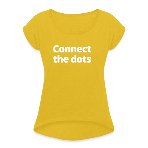 1 MAMO Connect the dots - Women's T-Shirt with rolled up sleeves